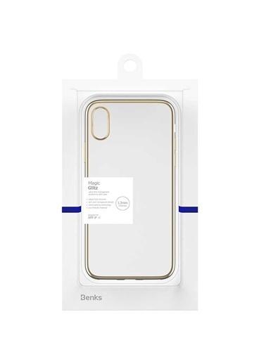 Benks Apple iPhone X Magic Glitz Ultra-Thin Transparent Protective Soft Case Altın